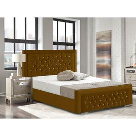 image-Benedict Upholstered Bed Frame Willa Arlo Interiors Size: Double (4'6), Colour: Mustard