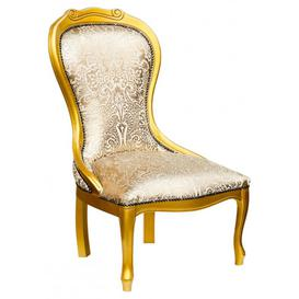 image-Blix Carved Nursing Chair With Gold Lacquer Wood Finish
