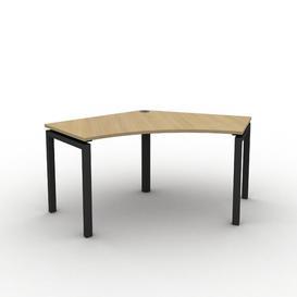 image-Grazian Corner Desk Ebern Designs Size: 73cm H x 111.5cm W x 80cm D, Frame Colour: Black, Top Colour: Oak
