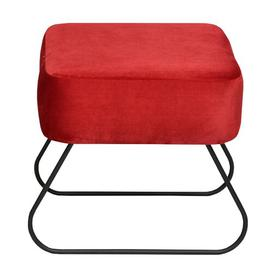 image-Lever Dressing Table Stool Happy Barok Colour: Red