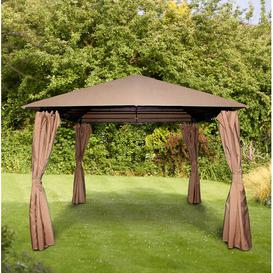 image-Columbus 3 x 3m Steel Patio Gazebo Sol 72 Outdoor Colour (Roof): Mocha