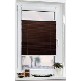 image-Lorine Semi-Sheer Pleated Blind Zipcode Design Size: 70cm W x 130cm L, Colour/Finish: Brown