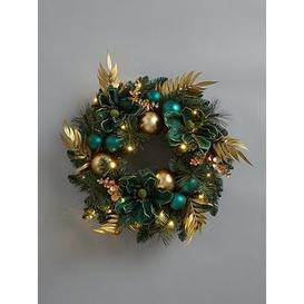 image-Pre-Lit Winter Garden Wreath