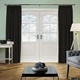 image-Ambassador Pencil Pleat Room Darkening Curtain Ebern Designs Panel Size: 347 W x 225 D cm