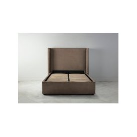 image-Suzie 5' King Ottoman Bed Frame in Saddle Brown