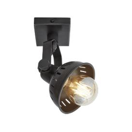 image-Industville Swivel Spotlight Wall Light - Single - Pewter