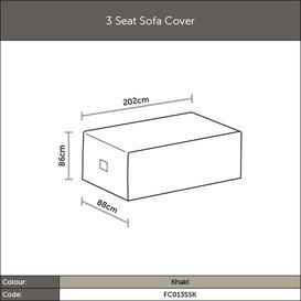 image-2020 Bramblecrest 3 Seat Outdoor Sofa Cover - Khaki