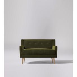 image-Swoon Perrian Two-Seater Sofa in Fern Easy Velvet With Light Feet