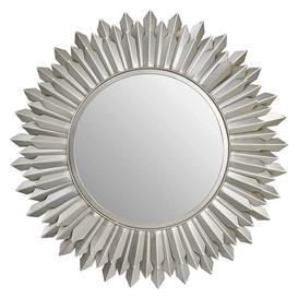 image-Templar Sunburst Silver Finish Mirrored Glass Wall Mirror