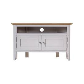 image-Shore Dove Grey Painted 2 Door Corner TV Unit
