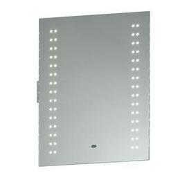 image-13760 Perle LED Illuminated Bathroom Mirror in Matt Silver