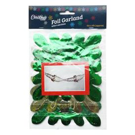 image-3 Pack Garland Christmas Decoration 6 Inch x 9 Foot Green & Gold