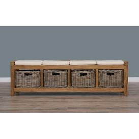 image-Alyson Wood Storage Bench Union Rustic