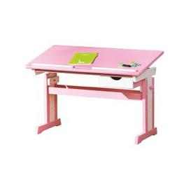 image-Cecilia Childrens Computer Desk In Pink Wood