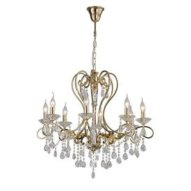 image-8-Light Candle Style Chandelier Willa Arlo Interiors Finish: Gold