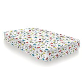 image-Monster Mob 132 Thread Count 100% Cotton Percale Fitted Sheet Cosatto Size: Toddler (70 x 140cm)