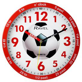 image-Children's Time Teacher 25cm Wall Clock Ravel Colour: Red/White