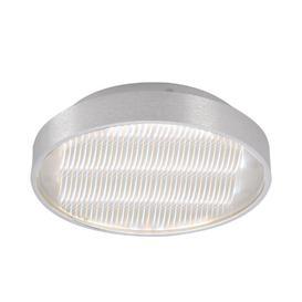 image-Mantra M5344 Reflex LED Small Round Flush Ceiling Light In Aluminium And White