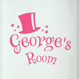 image-Personalised Magic Kids Door Room Wall Sticker Happy Larry Colour: Pink