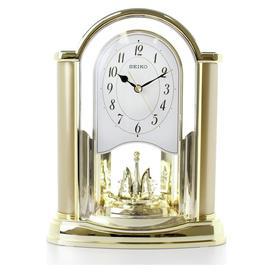 image-Seiko Rotating Pendulum Mantel Clock - Gold