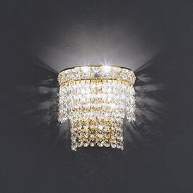 image-Beethoven Flush Wall Light Voltolina Size/Finish: 18cm H/24 k Gold