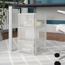 image-3 Drawer Filing Cabinet IRIS Colour (Body/Drawer): Frost-White/Transparent