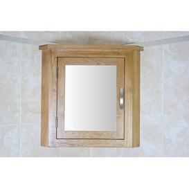 image-Cota 44 x 52cm Corner Mount Mirror Cabinet Belfry Bathroom