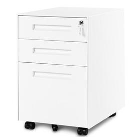 image-Steel 3 Drawer Filing Cabinet LIPOBAOEU Colour: White