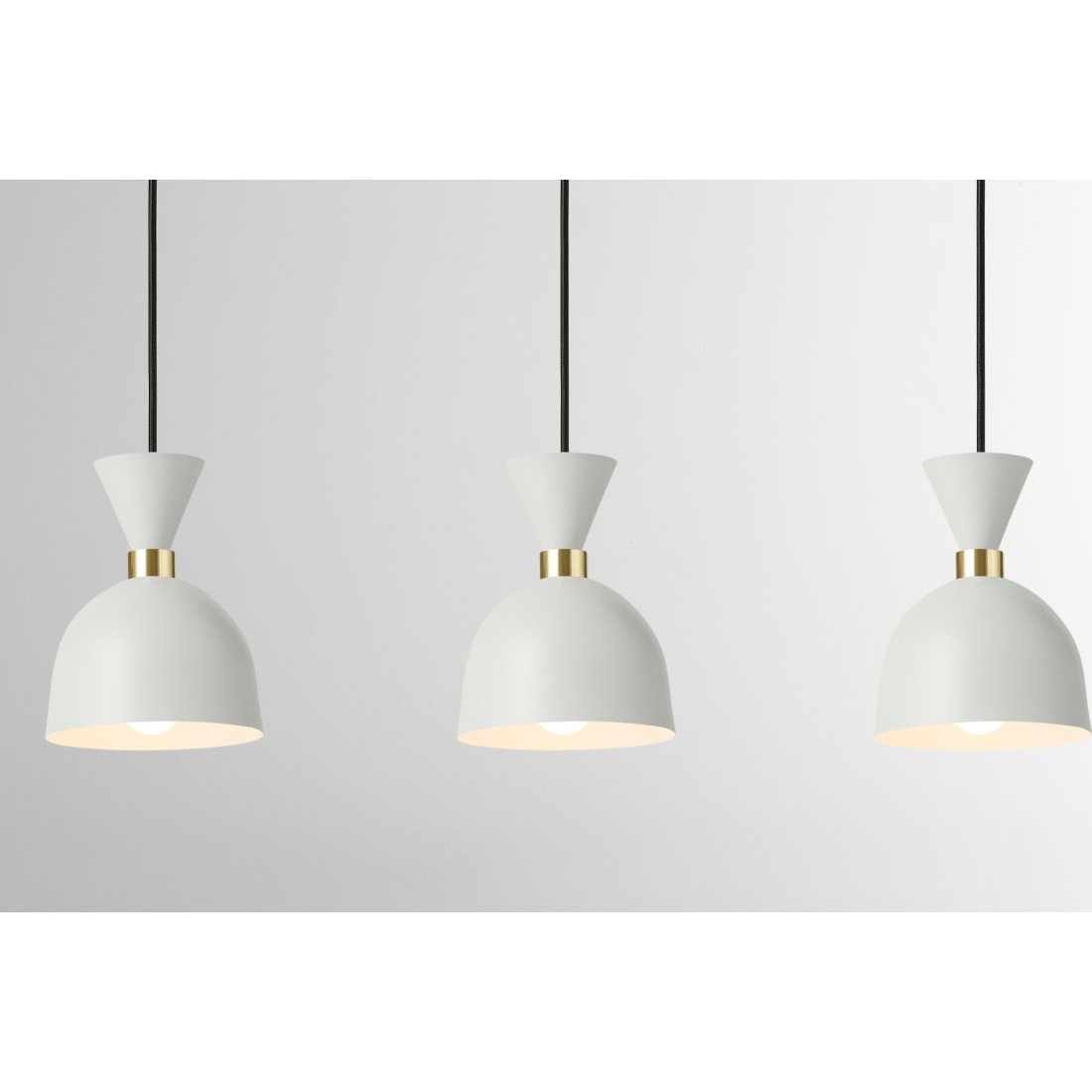 image-Keeva Diner Lamp, Cream & Brushed Brass