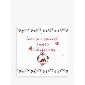 image-Laura Sherratt Designs Robin Wreath Auntie Christmas Card