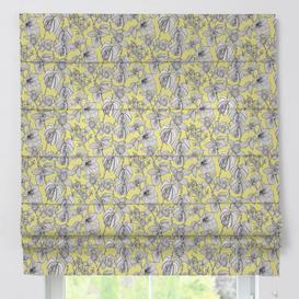 image-Padva Brooklyn Blackout Roman Blind Dekoria Size: 170cm L x 100cm W, Colour: Yellow/Grey