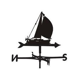 image-Amber Sailing Yacht Weathervane - Large (Traditional)