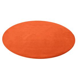 image-Round play mat HUGO, ├ÿ3000 mm, orange