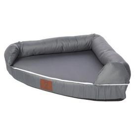image-Bunty Grey Cosy Couch Corner Dog Bed Grey