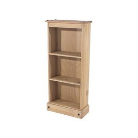 image-Corina Low Narrow Bookcase In Antique Wax Finish