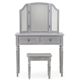 image-Lucy Cane Grey Dressing Table Set Grey