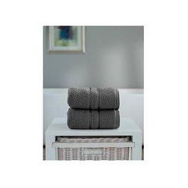 image-The Lyndon Co Chelsea Super Soft 600 Gsm Zero Twist Hand Towel - Charcoal