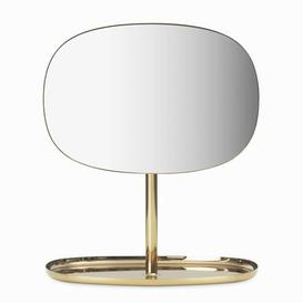 image-Flip Free standing mirrors - / Adjustable - sundries tray by Normann Copenhagen Gold