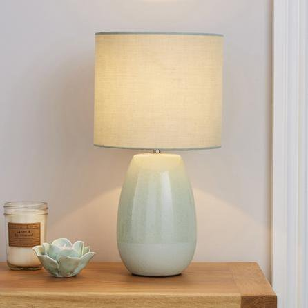 image-Alby Ceramic Green Table Lamp Green