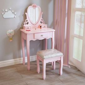 image-Freelon Kids Dressing Table Set with Mirror