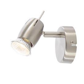 image-Renley 1 Light Ceiling or Wall Spotlight - Satin Nickel