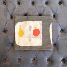 image-Small Abstract Fruit Cushion Spoon & Fruit