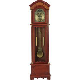 image-Argos Home Floor Standing Pendulum Grandfather Clock -Walnut