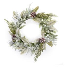 image-The Tree Company 50cm Flocked Eucalyptus Christmas Wreath