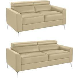image-Aradia 2 Piece Sofa Set Ebern Designs Upholstery Colour: Cream