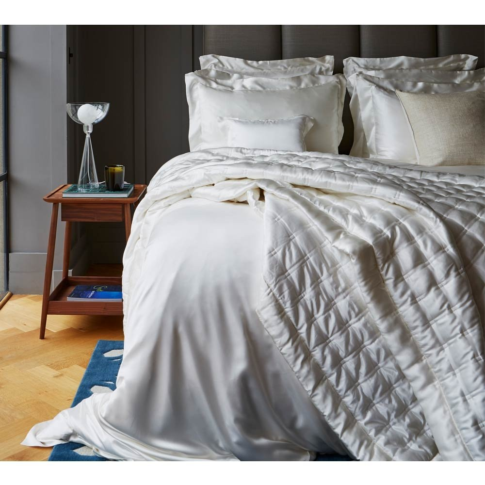 image-Luxury Ivory Mulberry Silk Bed Linen by Gingerlily (Double Duvet...