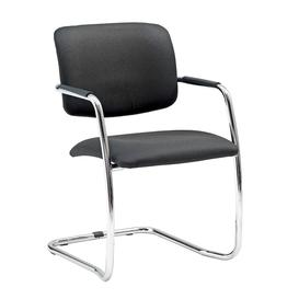 image-Stackable conference chair SIMCOE, black, chrome