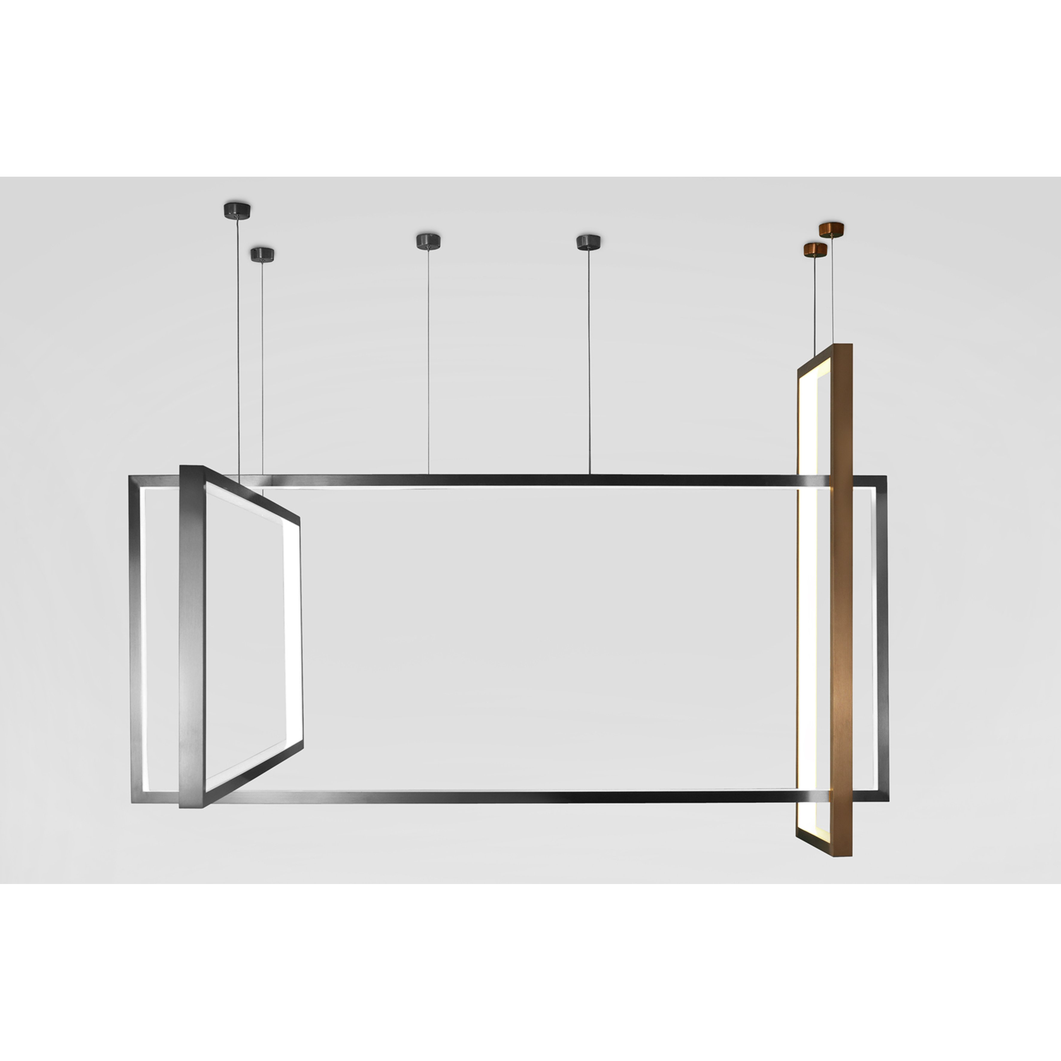 image-Tate LED Bronze Vertical Pendant Lamp, Small, Bronze