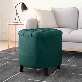 image-Dalton Storage Ottoman Hykkon Upholstery Colour: Marine