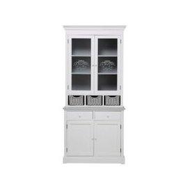 image-Paulownia Wood White China Cabinet Garrigue